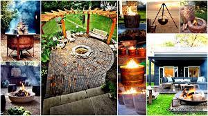 simple backyard fire pit ideas christmas lights decoration