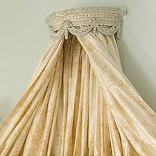 Crown Bed Canopy Menagerie Aged White Canopy Teester Drapery Bed Crown French Style
