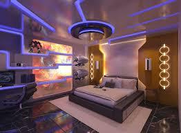 Futuristic Bedroom Design Design Futuristic Bedroom Design Idea Blue Yelow Led Bedrooms