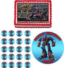 optimus prime cake topper transformers optimus prime edible cake topper cupcake image