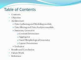 table of contents generator tamil summary generation for a cricket match ppt video online download