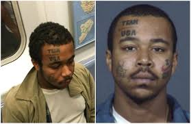 man with u0027team usa u0027 face tattoo masturbated on subway again nypd