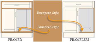 framed vs frameless cabinets framed vs frameless cabinets kitchen design blog