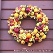 colonial williamsburg wreath fruit wreath dried fruit