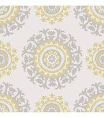 wallpops nuwallpaper gray and yellow suzani peel and stick