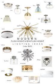 20 modern flush mount u0026 semi flush mount lighting ideas u2014 chic