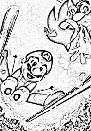 sonic and mario coloring pages mario u0026sonic at the olympic winter games coloring pages