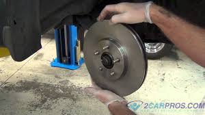 front brake pads u0026 rotor replacement chrysler pt cruiser youtube
