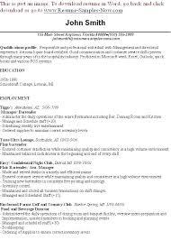 bartender resume format bartender resume sle objective free templates template 6 word