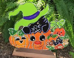 Halloween Outdoor Decorations Ireland by Halloween Black Cat Etsy