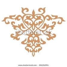 kazakh ornament line stock vector 589724813