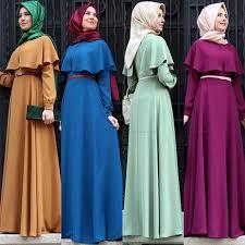 new personality cape style abaya turkish women clothing muslim