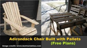 Homemade Adirondack Chair Plans Diy Adirondack Chair Built With Pallets Free Plans