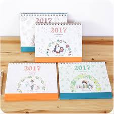 Desk Daily Calendar 2017cute Desk Calendar Cartoon Scheduler Agenda Planner Organizer