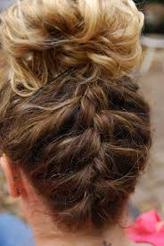 hairstyles for gymnastics meets try french braiding up the back of your head for something a