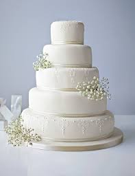 5 tier white embroidered lace cake available to order until 31st jan