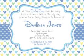 mickey mouse baby shower invitations how to create mickey mouse baby shower invitations all
