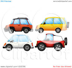jeep vector cartoon of suvs and a jeep royalty free vector clipart by