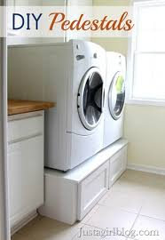 Laundry Bench Height Build Your Own Washer And Dryer Pedestals With Drawers