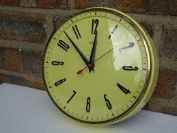 modern kitchen clock 1960 u0027s metamec kitchen wall clock in vivd yellow mid century