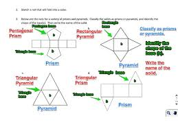 3 Dimensional Shapes Worksheets 3 D Figures And Nets Lessons Tes Teach