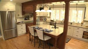 kitchen island columns ionic columns for a transitional kitchen with a kitchen island