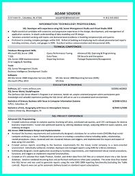 Oracle Pl Sql Resume Sample by Oracle Sql Developer Cover Letter