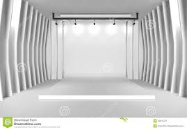 white photo backdrop white backdrop stage in room with brick wall stock illustration