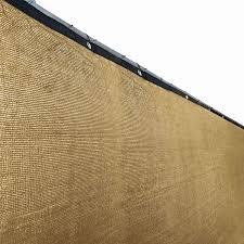 amazon com aleko 4 x 50 feet beige fence privacy screen outdoor