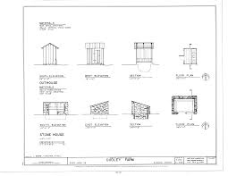 file stonehouse and outhouse elevations floor plans and file stonehouse and outhouse elevations floor plans and sections dudley farm