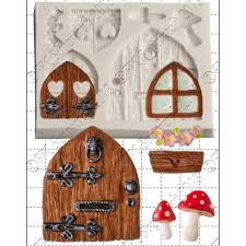 Fairy Door by Fairy Window U0026 Door Cake Decorating Silicone Mould By Fpc Moulds