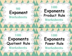 exponents power rule worksheets by bios444 teaching resources