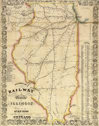 Map Of The State Of Illinois by Chicago Burlington U0026 Quincy Railroad