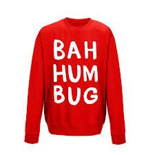 bah humbug u0027 christmas unisex jumper sweatshirt by ellie ellie