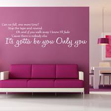 one direction gotta be you lyrics wall sticker world of wall the product is already in the wishlist browse wishlist one direction gotta be you lyrics wall sticker