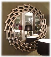 Circle Wall Mirrors Large Round Wall Mirror With Antique Silver Finish 110 Cm Round