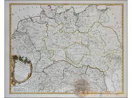 Ancient Map Germania Antiqua Antique Map Germania Vaugondy 1756