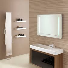 mirrors on tiled bathroom sink wall home