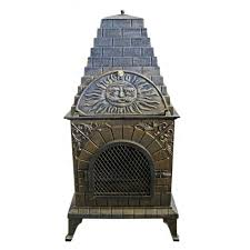 chiminea clay outdoor fireplace images home fixtures decoration