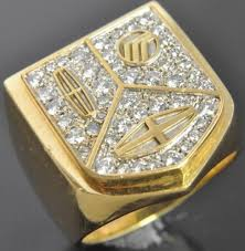 cartier rings ebay images Cartier 18k yellow gold diamond lincoln mercury automobile mens 82846