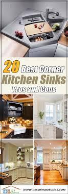 kitchen sink with cabinet 20 best corner kitchen sink designs for 2021 pros cons