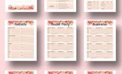 brilliant wedding reception planners free wedding planner template