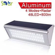 wireless sensor lights outdoor 48 led 800 lumen wireless waterproof solar lights outdoor radar
