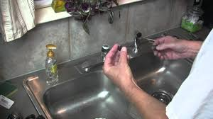 Kitchen Sink Faucet Leaking by Moen Kitchen Faucet Broken Lever Handle Repair Youtube