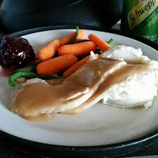 hospital version of thanksgiving dinner edible except for the