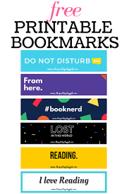 printable bookmarks for readers free printable bookmarks