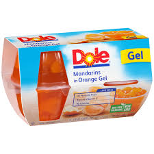 dole fruit bowls dole mandarins in orange gel 4 4 3 oz cups walmart