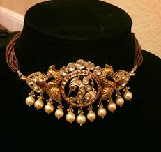 necklace choker design images Jewellery designs gold choker necklace set with indian for awwake me jpg