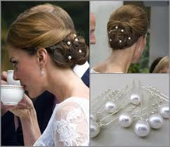 pearl hair pins set of 10 kate middleton inspired bridal pearl hairpins wedding