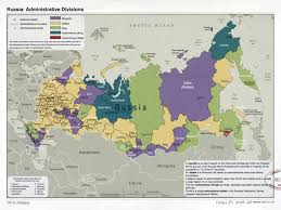 Map Of The World To Scale by Large Scale Administrative Divisions Map Of Russia 2009 Russia